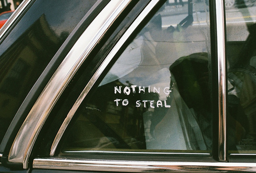nothing to steal